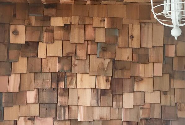 One Room Challenge Week 3 :: The Cedar Wall